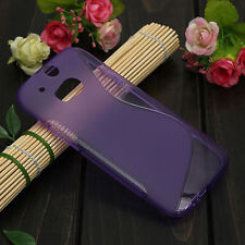 HOUSSE ETUI COQUE SILICONE GEL VIOLET HTC ONE M8