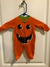 Cute Infant / Baby Pumpkin One Piece Halloween Costume Size 0-3 Mo. - Pajamas