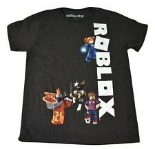 Roblox Youth Boys Charcoal Character Tee Shirt New XS, S, M, L, XL, 2XL