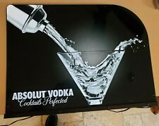 "Motion-Lighted Absolute Vodka Advertising Sign 24"" X 18"" Single Sided"