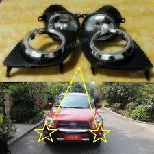 Front Bumper Driving Fog Lights Lamps w/ Bezels Kits for Toyota RAV4 2009-2012