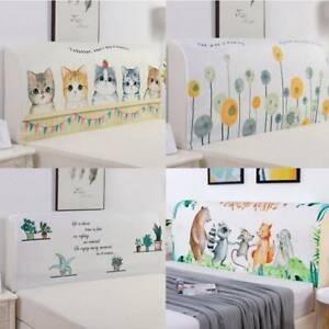 Headboard Cover Stretch Bed Head Dustproof Bedding Bedspread Slipcover SG