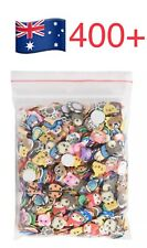 400PCS 3D Fruit Animals Fimo Slice Clay DIY Nail Art Tip Sticker Decorati NTPD