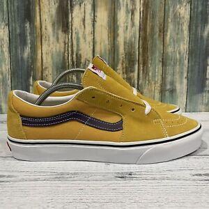 Vans Sk8 Low Honey Gold/Purple Velvet Lakers Suede Size 10.5