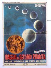 soggettone VIAGGIO AL SETTIMO PIANETA fantascienza sidney pink - john agar 1962