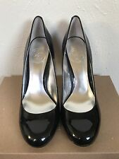 JS Jessica Simpson Size 6 1/2 B Oscar Black Patent Leather Heels Pumps