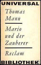 Mann, Thomas; Mario und der Zauberer, 1965, Reclam 148