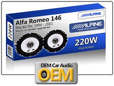 ALFA ROMEO 146 casse portiera anteriore Alpine 17cm 16.5cm altoparlante auto kit