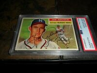 1956 TOPPS #320 JOE ADCOCK PSA/DNA AUTOGRAPHED MILWAUKEE BRAVES D.1999