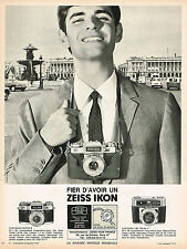 PUBLICITE ADVERTISING 045  1966  ZEISS IKON  appareil photo CONTAFLEX SUPER B