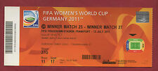 Orig.Ticket    Frauen WM DEUTSCHLAND 2011  SCHWEDEN - JAPAN  1/2 FINALE  !!  TOP