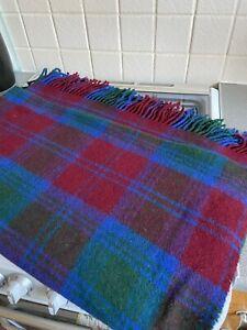 Vintage Check Wool Rug Unbranded