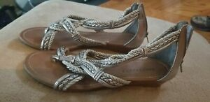 Apostrophe Sandals Silver Worn Once 9