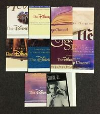 Lot of 10 Rare 1990's Disney Channel Cable TV Network Advertising Posters