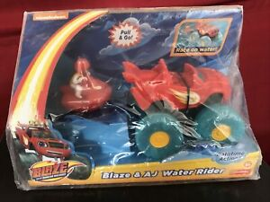 RARE 2015 NICKELODEON Blaze And The Monster Machines Blaze and AJ Water Rider 3+