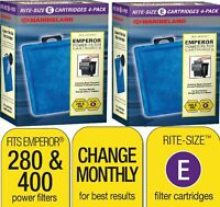 8 Marineland Rite-Size Cartridges E PA0137-04 Tank For Emperor 280 400 Filters