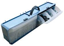 Crawford  Blue  Polypropylene  4 in. Multi-Bin Parts Organizer  1 pk