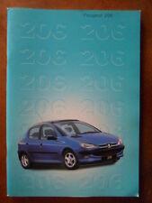 PEUGEOT 206 RANGE orig 1998 UK Mkt Prestige Sales Brochure