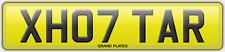 XH07 goudron inscription Tarmac Number Plate X Hot TARS Reg assigned 4U Tara UK