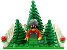 NEW LEGO CHRISTMAS TREE LOT Salesman and Pine Trees minifigure figure minifig