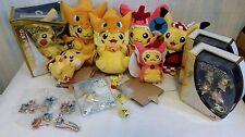 Pikachu plush toy figure keychain lot Pokemon Center Mega Tokyo Hiroshima 20th +
