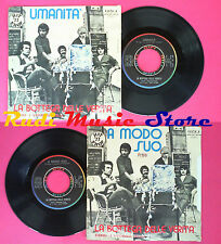 LP 45 7'' LA BOTTEGA DELLE VERITA' Umanita'A modo suo 1977 italy no cd mc vhs