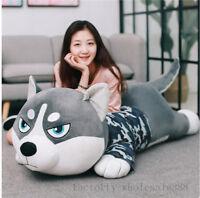 Giant big Huge Siberian Husky Plush Baby Soft toys doll Cuddly pillow kids Gift