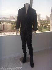 NEW Elvis BLACK Soft Leather 1968 PANTS (Tribute Artist Costume)Pre Jumpsuit Era