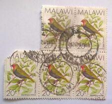 Malawi stamps - Green-backed Twinspot (Mandingoa Nitidula) x4   20 tambala 1988