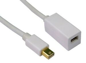 2m Mini DisplayPort Extension Cable Lead Male to Female Display Port 2 Metre