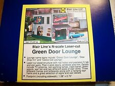 BlairLine N Scale Laser Cut Green Door Lounge Kit #1008 Bob The Train Guy