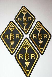 ARRL DIAMOND PATCHES LOT OF 4 - Amateur Ham Radio