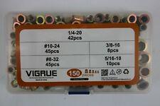 Vigrue 150 Pcs Carbon Steel UNC Rivet Nut Kit