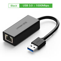 USB 3.0 a Gigabit Ethernet RJ45 Ethernet Adaptador Tarjeta de Red Externa 1000Mb