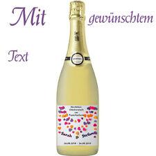 Flaschenetikett/Flaschenaufkleber *Papierhochzeit * 1.Hochzeitstag, glänzend