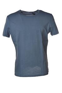 Paolo Pecora Girocollo Uomo T-shirt manica corta blu scuro 403