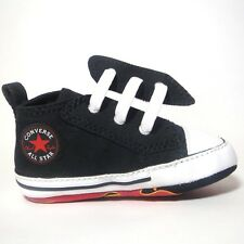 Baby Boy's CONVERSE All Star First FLAMES SLIP ON Crib Trainers Shoes UK SIZE 1