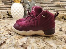 Nike Jordan 12 Retro (PS) Athletic Sneakers Bordeaux Pre-School Boys Size 11.5C
