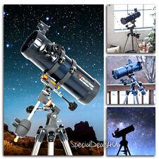 Celestron AstroMaster 114 EQ Reflector Telescope Planetarium Software Tripod NEW