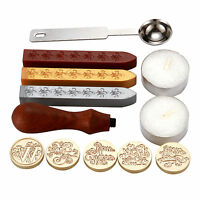 Vintage Retro Sealing Wax Stamp Kit For Sealing Letter Card Wedding Invitation