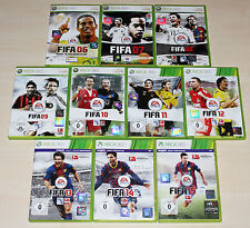 10 XBOX 360 jeux collection FIFA 06 07 08 09 10 11 12 13 14 15 Football Soccer