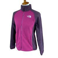 North Face Women's Full Zip Mock Neck Fleece Purple Pink Jacket Small