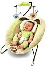 NEW FISHER PRICE MY LITTLE SNUGABUNNY DELUXE BOUNCER WITH OVERHEAD MOBILE +