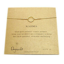 """Dogeared 18"""" Gold Dipped Karma Necklace"""