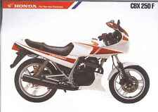1985 HONDA CBX250F 2 Page Motorcycle Brochure NCS