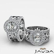 Antique Designer Oval Diamond Pre-Set Engagement Ring GIA G VS2 Platinum 2.3 ct