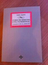 CARLOS LASARTE - Curso de Derecho Civil Patrimonial - Editorial TECNOS