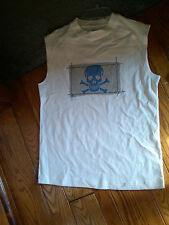NWT BOYS WHITE MUSCLE SHIRT WITH SKULL & CROSSBONE SZ EXTRA LARGE XL BY J KHAKI