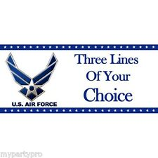 AIR FORCE 2 CUSTOM BANNER PARTY supplies FREE SHIPPING