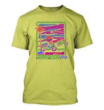 Moto Beach Retro #369 - Men's T-Shirt - Funny Humor Comedy Motorcycle 1990 Miami